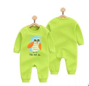 2018 Spring Autumn Long Sleeved Cotton Romper Baby Clothes Childrens Clothing Cartoon Penguin Baby Maotouying / 3M