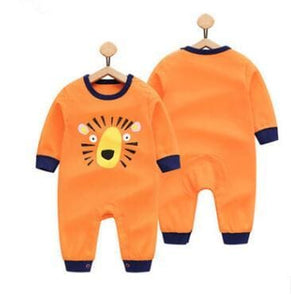 2018 Spring Autumn Long Sleeved Cotton Romper Baby Clothes Childrens Clothing Cartoon Penguin Baby Lutou / 3M