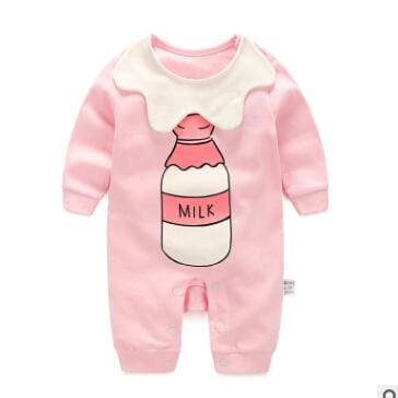 2018 Spring Autumn Long Sleeved Cotton Romper Baby Clothes Childrens Clothing Cartoon Penguin Baby Fennai / 3M