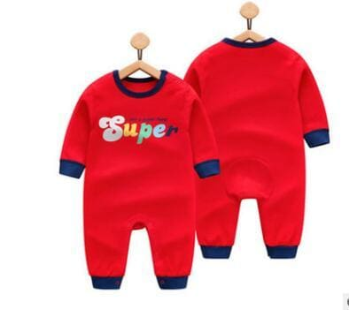 2018 Spring Autumn Long Sleeved Cotton Romper Baby Clothes Childrens Clothing Cartoon Penguin Baby Hongsuper / 3M