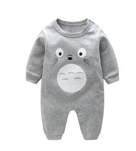 2018 Spring Autumn Long Sleeved Cotton Romper Baby Clothes Childrens Clothing Cartoon Penguin Baby Long Mao / 3M