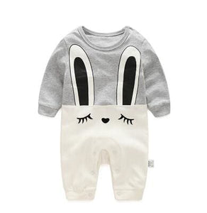 2018 Spring Autumn Long Sleeved Cotton Romper Baby Clothes Childrens Clothing Cartoon Penguin Baby Huituzi / 3M