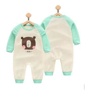 2018 Spring Autumn Long Sleeved Cotton Romper Baby Clothes Childrens Clothing Cartoon Penguin Baby Xiongtou / 3M