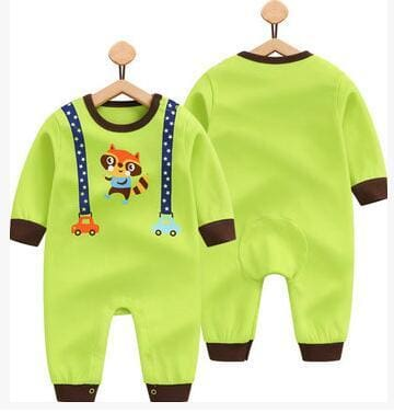 2018 Spring Autumn Long Sleeved Cotton Romper Baby Clothes Childrens Clothing Cartoon Penguin Baby Songshu / 3M