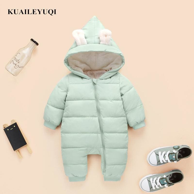 2457ee1f50ca 2018 spring autumn Warm baby girl boy Snowsuit down cotton baby ...