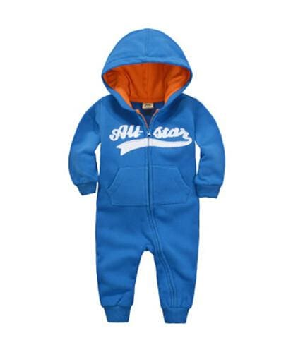 2018 Spring Baby Rompers Newborn Cotton Tracksuit Clothing Baby Long Sleeve Hoodies Infant Boys Blue / 6M