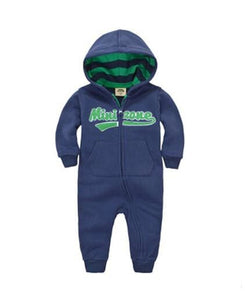 2018 Spring Baby Rompers Newborn Cotton Tracksuit Clothing Baby Long Sleeve Hoodies Infant Boys Dblue / 6M