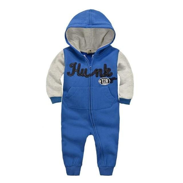 2018 Spring Baby Rompers Newborn Cotton Tracksuit Clothing Baby Long Sleeve Hoodies Infant Boys Greyblue / 6M