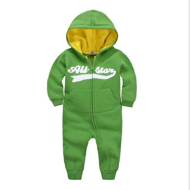 2018 Spring Baby Rompers Newborn Cotton Tracksuit Clothing Baby Long Sleeve Hoodies Infant Boys Green / 6M