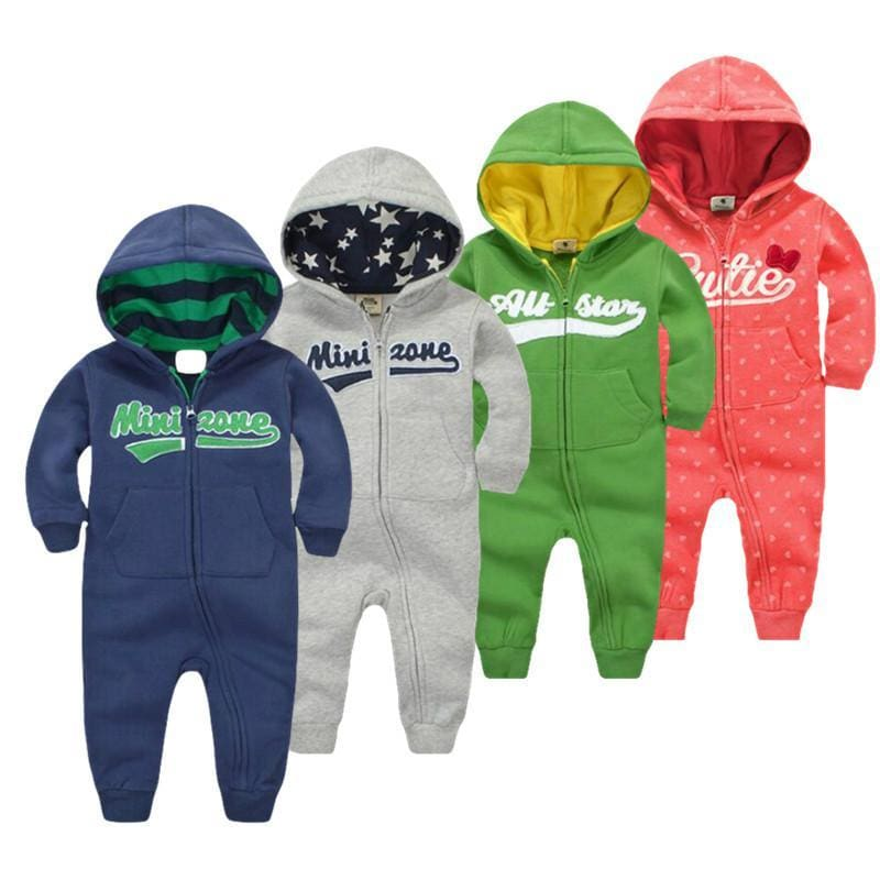 2018 Spring Baby Rompers Newborn Cotton Tracksuit Clothing Baby Long Sleeve Hoodies Infant Boys