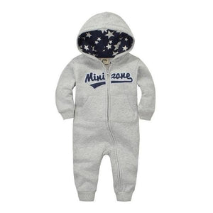 2018 Spring Baby Rompers Newborn Cotton Tracksuit Clothing Baby Long Sleeve Hoodies Infant Boys Grey / 6M