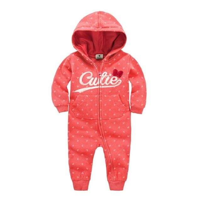 2018 Spring Baby Rompers Newborn Cotton Tracksuit Clothing Baby Long Sleeve Hoodies Infant Boys Orange / 6M