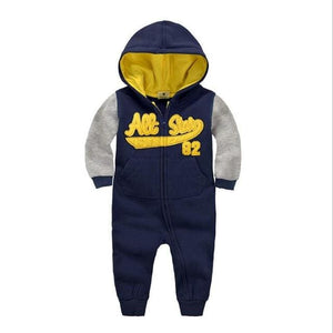 2018 Spring Baby Rompers Newborn Cotton Tracksuit Clothing Baby Long Sleeve Hoodies Infant Boys Navy / 6M