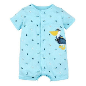 2018 Summer Short Sleeved Jumpsuit For Newborn Romper Character Baby Boy Clothes And Baby Girl Lan / 6M