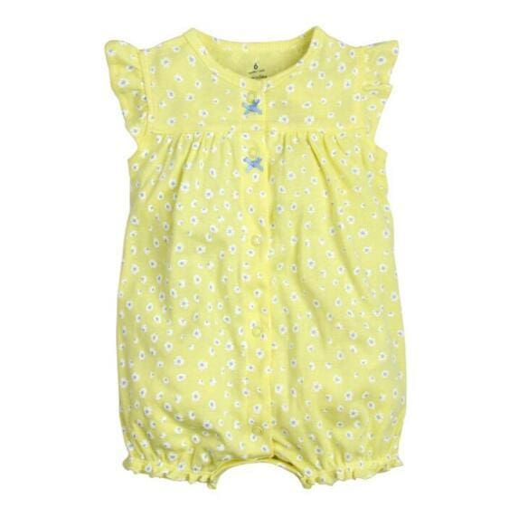 2018 Summer Short Sleeved Jumpsuit For Newborn Romper Character Baby Boy Clothes And Baby Girl Huanghua / 9M