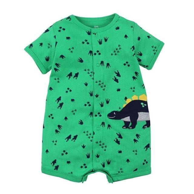 2018 Summer Short Sleeved Jumpsuit For Newborn Romper Character Baby Boy Clothes And Baby Girl Green / 6M