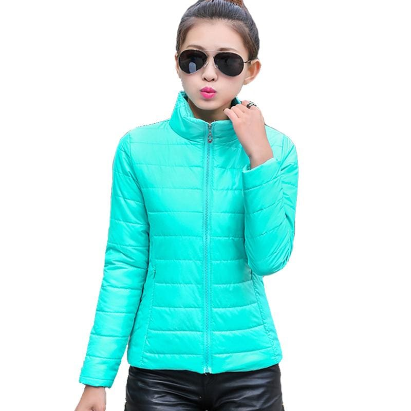 2018 Women Winter Jacket Ultra Light Candy Color Spring Coat Female Short Parka Cotton Outerwear