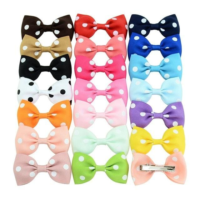 20pcs/lot Colorful Barrettes for Children Baby Girls Ribbon Hair Clip Bows Girls Hairpins Hair.