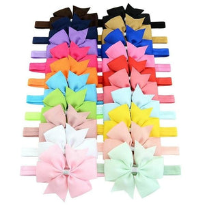 20pcs/lot DIY Big Grosgrain Ribbon Bow Headband Bowknot Headbands Hair bands Hair Ties Hair