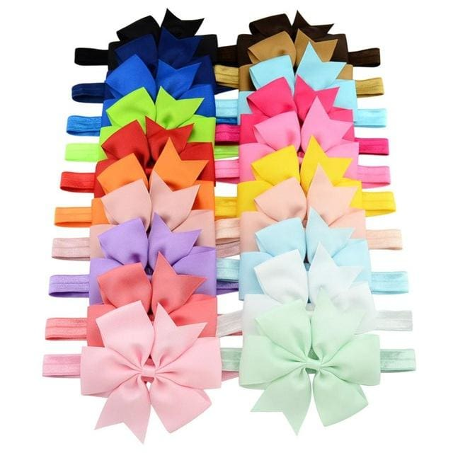 20pcs/lot DIY Big Grosgrain Ribbon Bow Headband Bowknot Headbands Hair bands Hair Ties Hair.