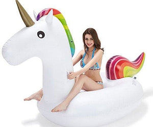 22 Style Giant Swan Watermelon Floats Pineapple Flamingo Swimming Ring Unicorn Inflatable Pool Float 200Cm Unicorn