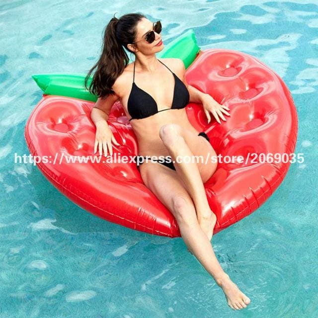 22 Style Giant Swan Watermelon Floats Pineapple Flamingo Swimming Ring Unicorn Inflatable Pool Float Strawberry