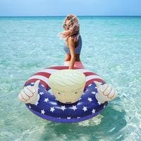 22 Style Giant Swan Watermelon Floats Pineapple Flamingo Swimming Ring Unicorn Inflatable Pool Float Trump