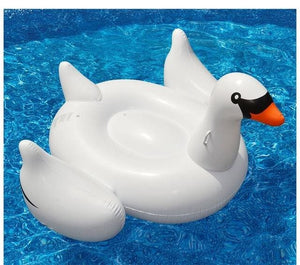 22 Style Giant Swan Watermelon Floats Pineapple Flamingo Swimming Ring Unicorn Inflatable Pool Float 150cm Swan