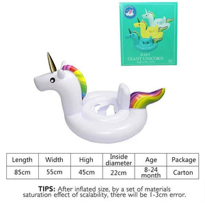 27 Inch Summer Swimming Pool Baby Inflatable Unicorn In Water Child Rainbow Hourse Floating Row kid White Carton