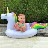 27 Inch Summer Swimming Pool Baby Inflatable Unicorn In Water Child Rainbow Hourse Floating Row Kid