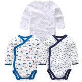 3 PCS Smiling Babe Brand Baby Romper Long Sleeves Cotton Newborn Baby Girl Boy Clothes Cartoon U / 3M