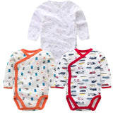 3 PCS Smiling Babe Brand Baby Romper Long Sleeves Cotton Newborn Baby Girl Boy Clothes Cartoon T / 3M