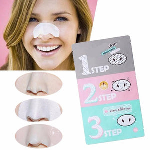 3-Step Kit (x 3 sheets) Korean Cosmetic New Nose Pore Pack Cleansing Black Head