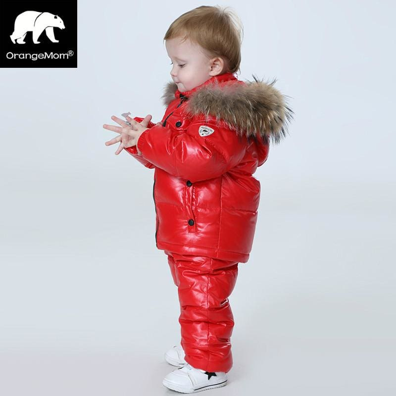 -30 Degree Russia Winter Childrens Clothing Girls Clothes Sets For New Years Eve Boys Parka