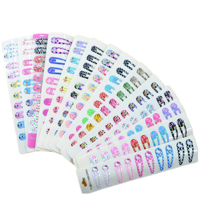 30Pcs/lot Cartoon Printing BB Clips Girls' Hairpin Kids Hair Clips Children Hair Accessories - MBMCITY