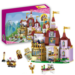 37001 Beauty And The Beast Princess Belles Enchanted Castle Building Blocks Girl Kids Toys