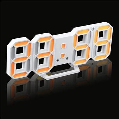 3D Led Wall Clock Modern Digital Alarm Clocks Display Home Kitchen Office Table Desk Night Wall White 8 / China
