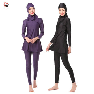 3Pcs Womens Full Cover Long Muslim Swimwears Islamic Swimsuits Ladies Arab Islam Beach Wear Modest