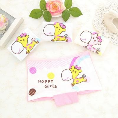 4Pcs/Lot 2016 cotton 2-10 years baby girls panties Cartoon Kids underwear pant Children's briefs - MBMCITY