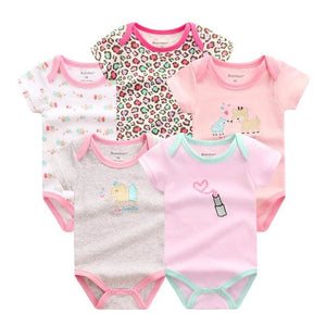 5 PCS/LOT Baby Rompers 2016 Summer Baby Clothing Set Cartoon Romper Infant Newborn Baby Boy and Girl DPS506G / 3M