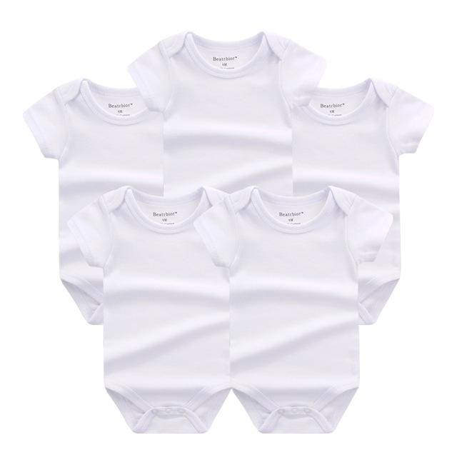5 PCS/LOT Baby Rompers 2016 Summer Baby Clothing Set Cartoon Romper Infant Newborn Baby Boy and Girl DPS500 / 3M