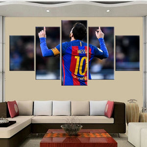 5 piece Barcelona Messi canvas printed painting for living picture wall art HD print decor modern.
