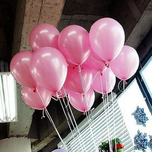 50Pcs Pink 10inch 21 colors Pearl Latex Helium Balloons Inflatable Wedding Balloons Children - MBMCITY