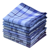 5Pcs/lot Cotton Plaid Square Stripe Handkerchiefs Men Classic Pattern Vintage Pocket Hanky - MBMCITY