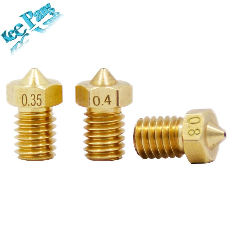 5Pcs/lot V5 V6 Nozzle 0.2 0.25 0.3Mm 0.35 0.4Mm 0.5 0.6 0.8 1.0 Part Copper 1.75Mm Filament M6