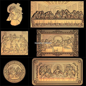 6pcs Jesus_Lords Supper 3d model STL relief for cnc STL format Lords Supper 3d Relief Model STL