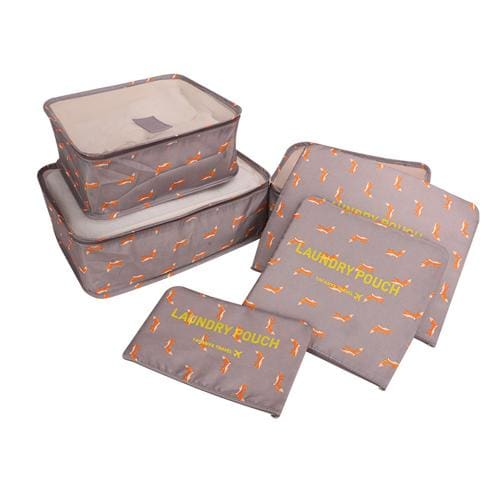 6Pcs/set Travel Storage Bags Shoes Clothes Toiletry Organizer Luggage Pouch Kits Wholesale Bulk Lots Brown Squirrel