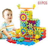 81 Pcs Plastic Electric Gears 3D Puzzle Building Kits Bricks Educational Toys For Kids Children