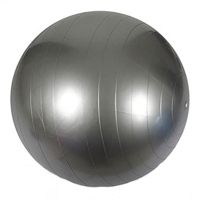 85cm PVC Unisex Yoga Balls For Fitness 4 colors Gym balls for Slimming Baby Balancer ball women Silver