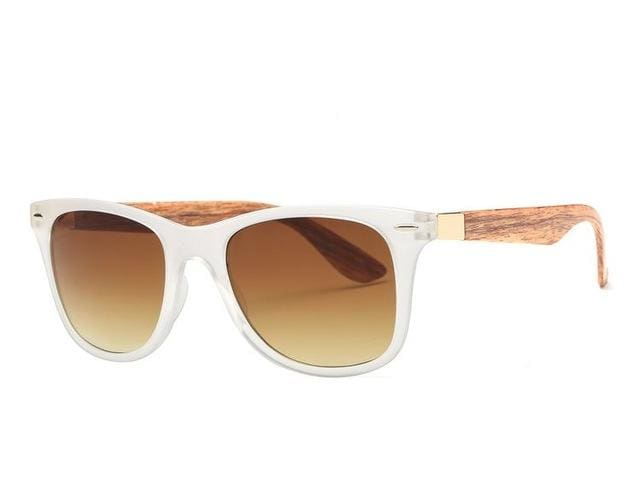 AEVOGUE Mens Sunglasses Aritificial Wood Grain Temple Brand Design Summer Style Unisex Sun Glasses NO10